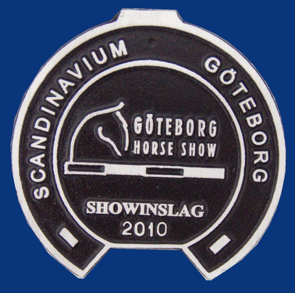 Plakett, göteborg horse show
