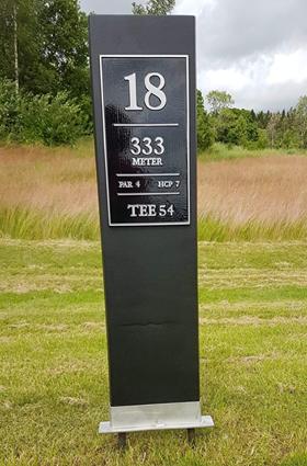 Ålands GK, golf, teeskylt