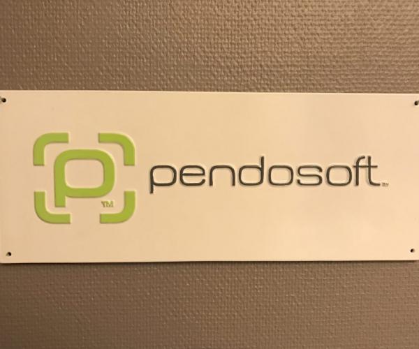 Pendosoft skylt